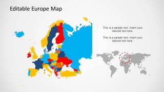 Europe PowerPoint Template with Countries
