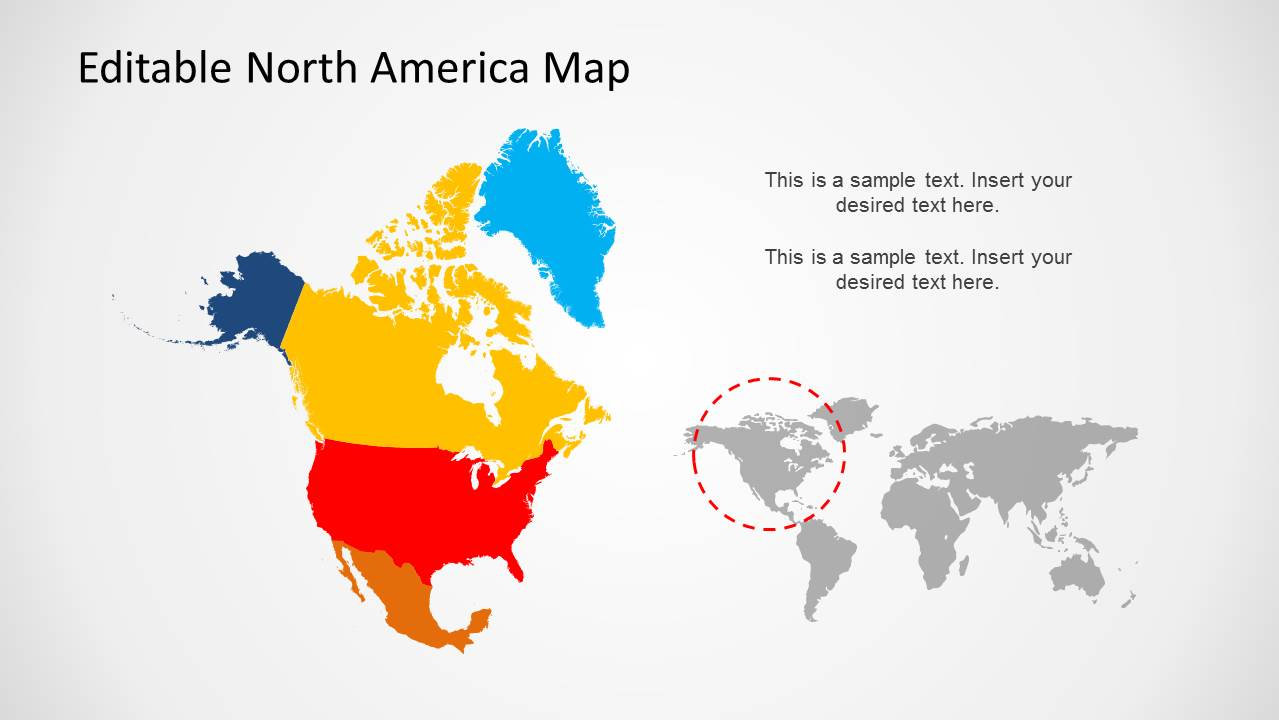 North america map template for powerpoint slidemodel toneelgroepblik Image collections