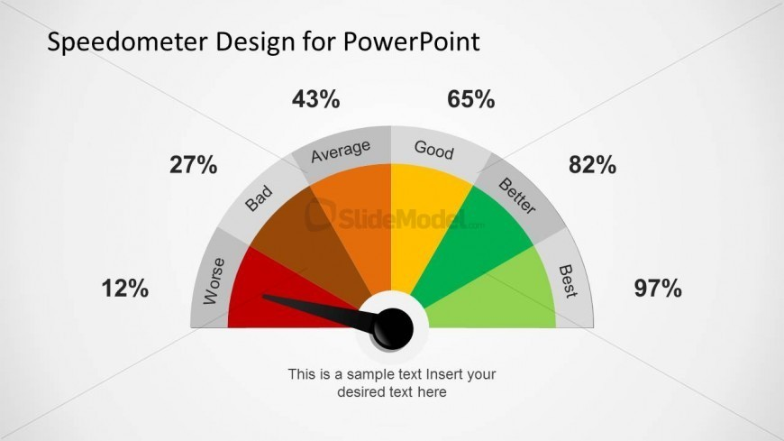 colorful gauge design for powerpoint - slidemodel, Powerpoint templates