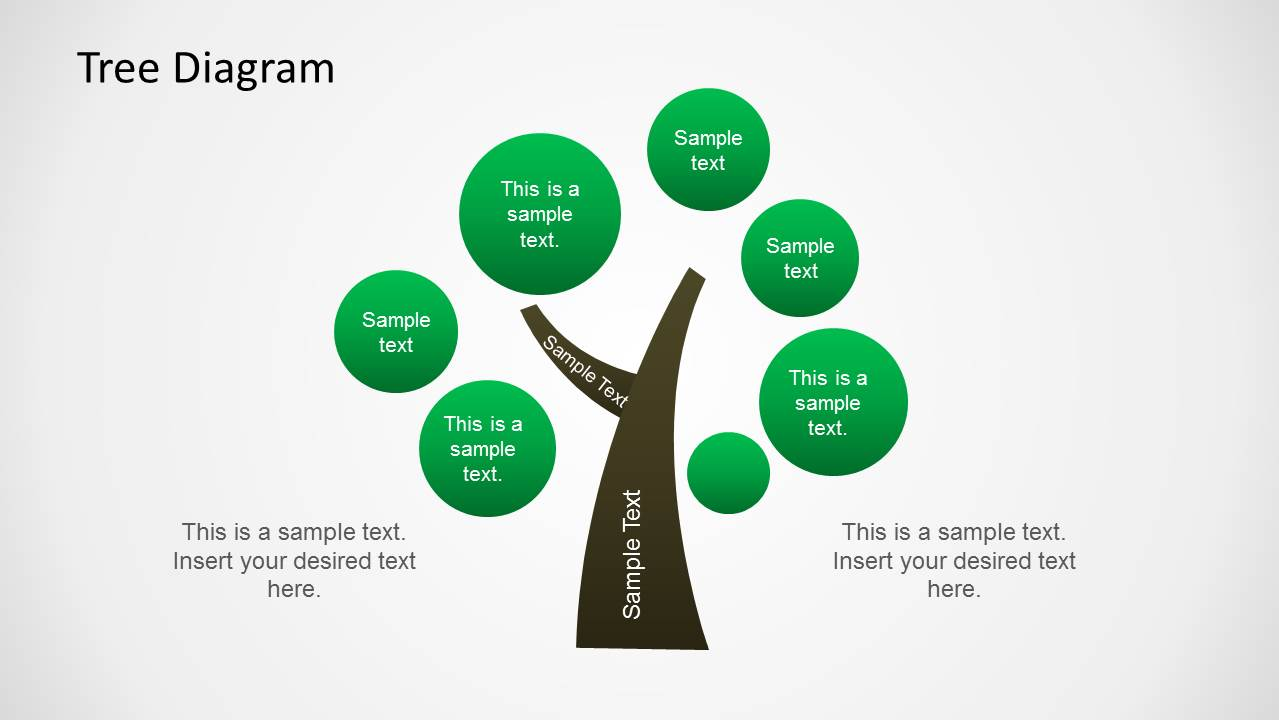 tree diagram illustration for powerpoint slidemodel