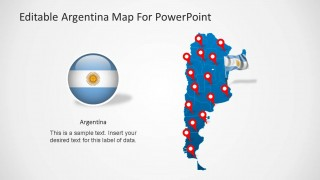 Fillable Argentina Map Slide Design