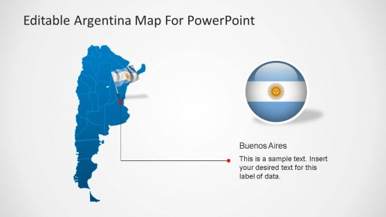 Argentina Map PPT Template with Flag