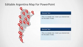 PPT Template of Argentina Political Outline Map