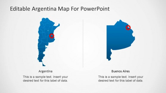 Argentine Republic with Bueno Aires Highlight Map