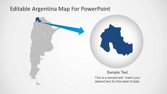 PPT Template Argentina Map with State Highlight