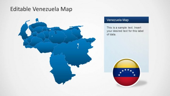 Venezuela Map Template Slide for PowerPoint
