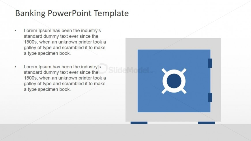 Bank Safe Box PowerPoint Slide