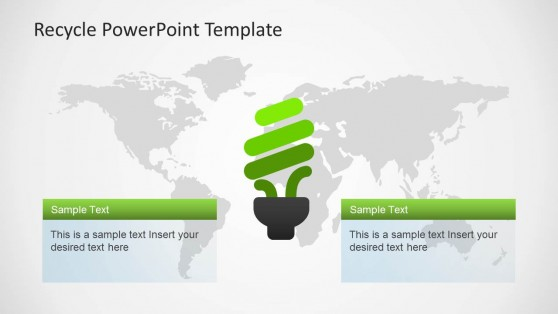 Recycle Light Bulb Slide Design for PowerPoint