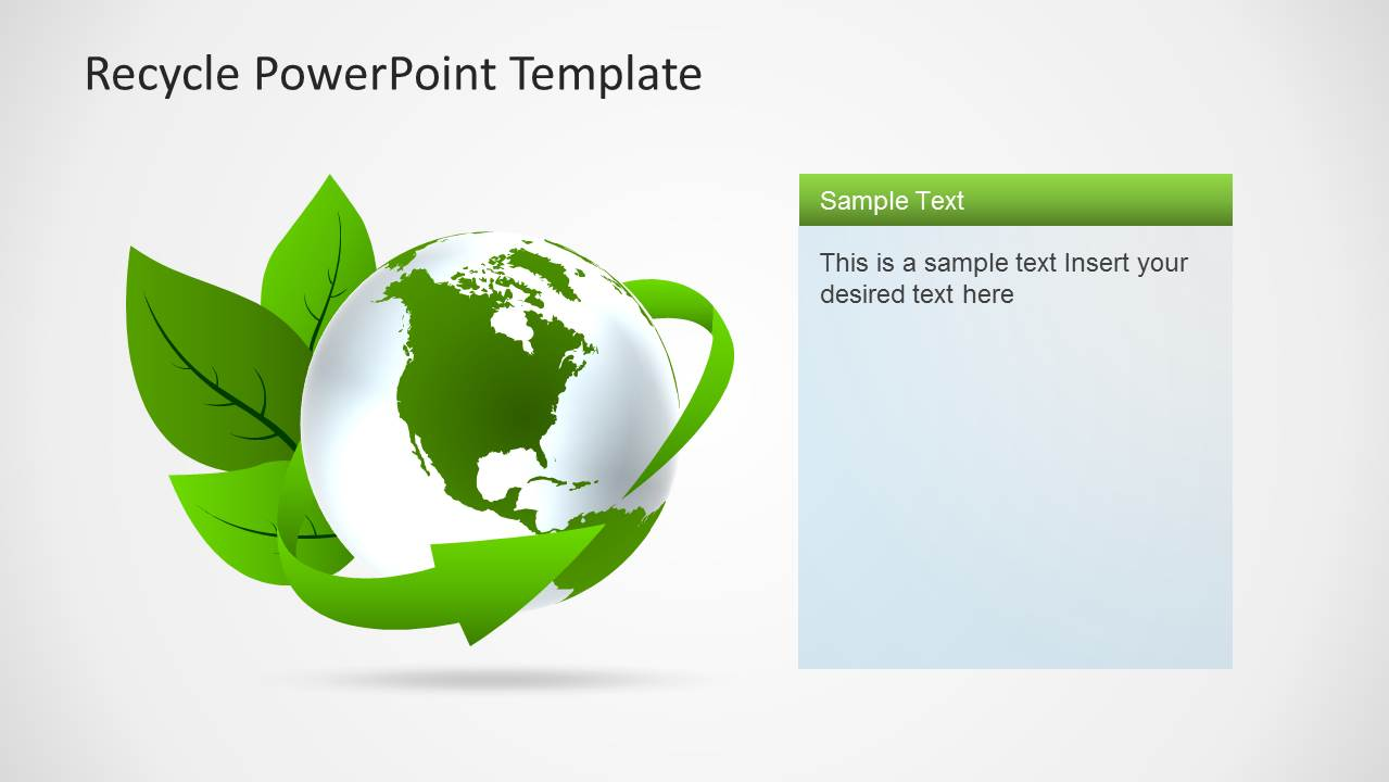 eco friendly powerpoint template with recycle icons slidemodel