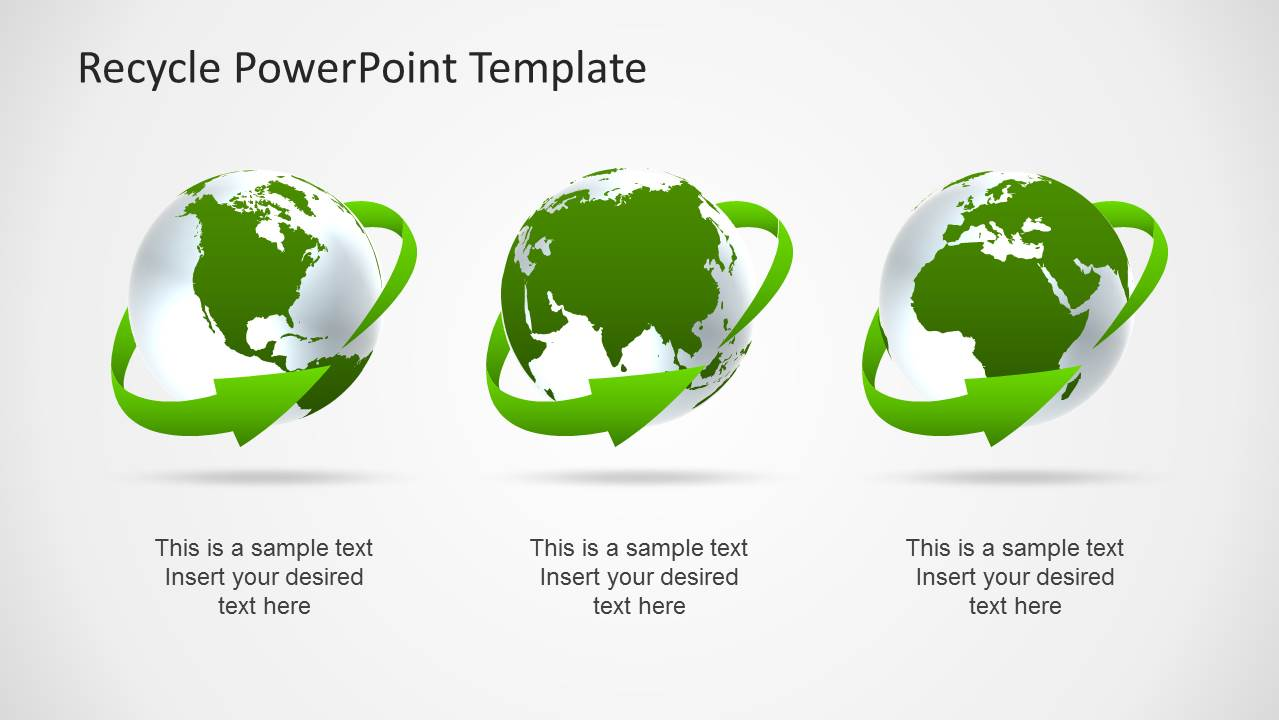 Green Earth Clipart Design for PowerPoint x3