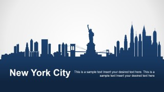 PowerPoint Silhouette Layout of New York
