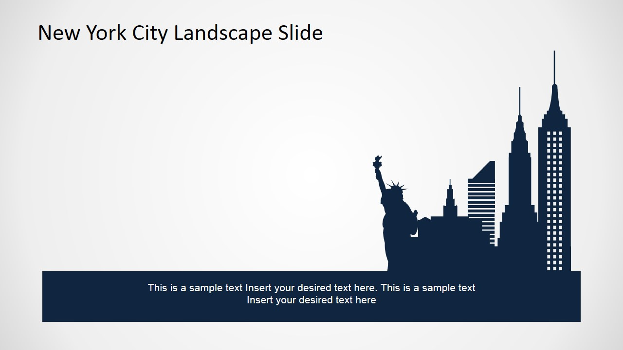 new york city powerpoint template slidemodel