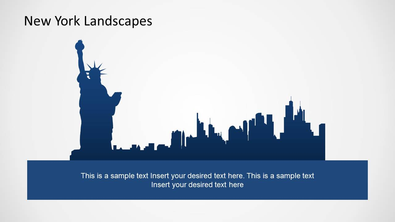 new york city powerpoint template slidemodel