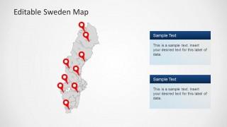 Sweden Map Template For PowerPoint SlideModel - Sweden map template