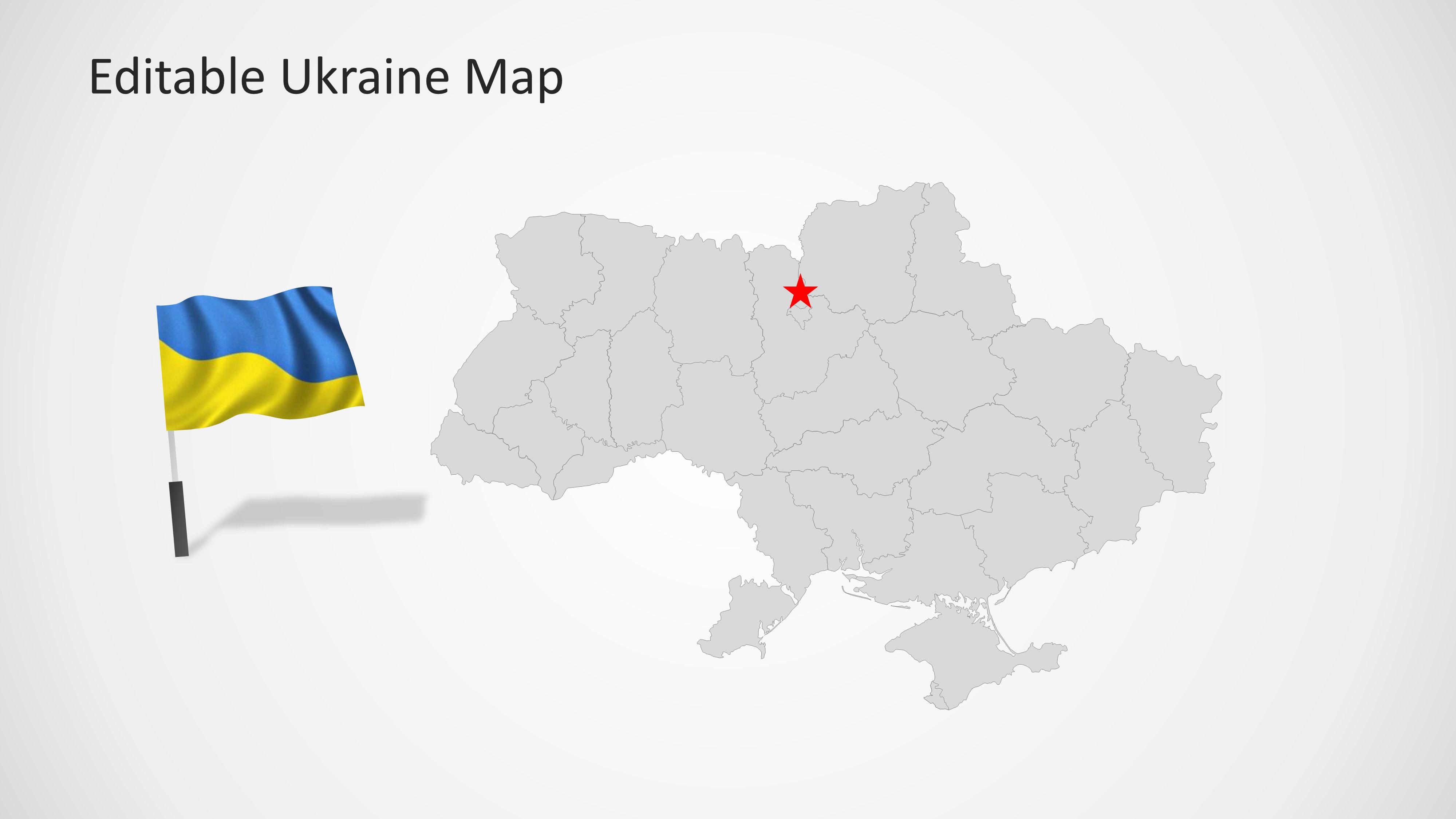 Ukraine Map Template for PowerPoint - SlideModel