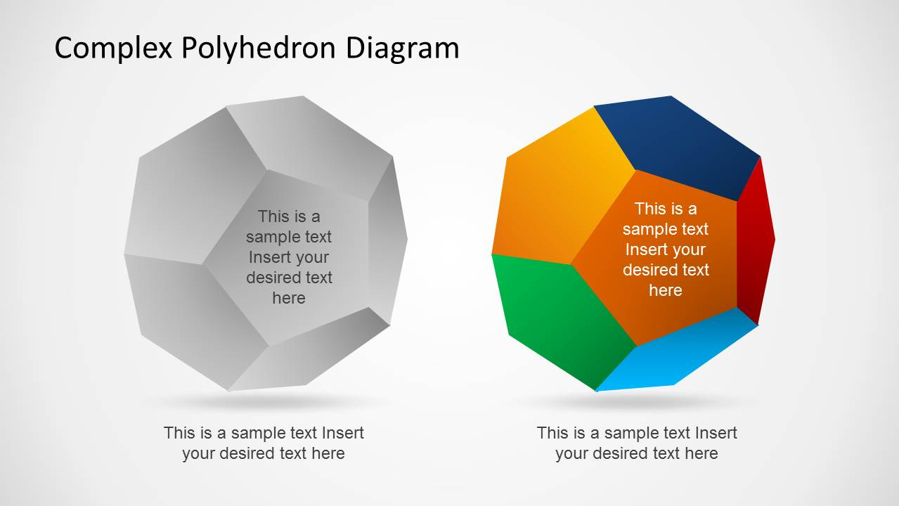 complex polyhedron diagram for powerpoint