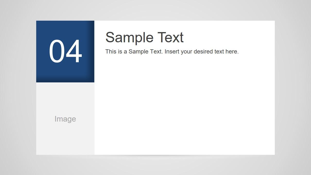 Number 4 Slide Design for PowerPoint