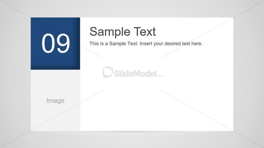 Number 9 Slide Design for PowerPoint