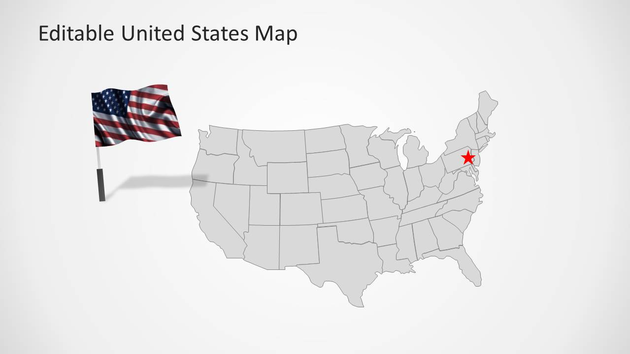Picture of: United States Map Template For Powerpoint Slidemodel