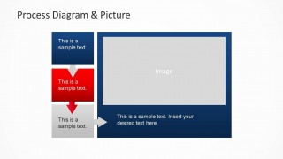 PowerPoint Process Flow with Image Placeholder