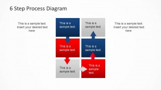 Six Steps Process PowerPoint Diagram