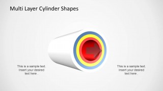 Multi Layer Cylinder Shapes for PowerPoint with 4 Layers