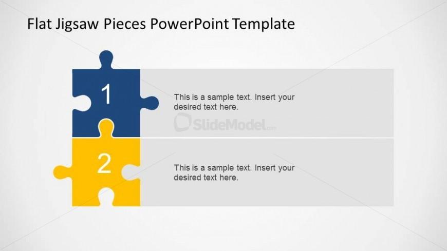 2 Steps Vertical Diagram Jigsaw Pieces Slidemodel