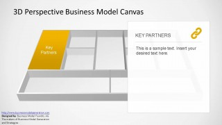 3-D Perspective PowerPoint Business Model Canvas