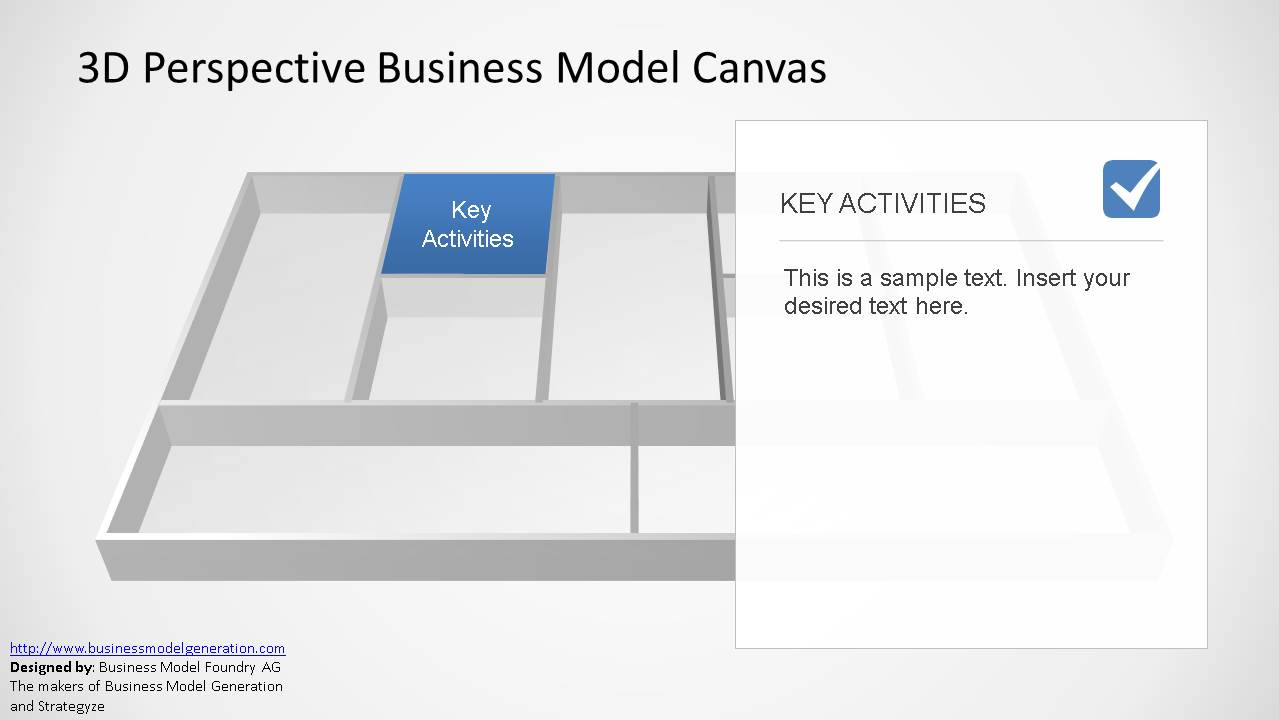 3d perspective business model canvas powerpoint template slidemodel canvas business model ppt template flashek
