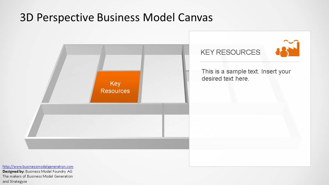 3d perspective business model canvas powerpoint template slidemodel template 3d business model powerpoint accmission Images