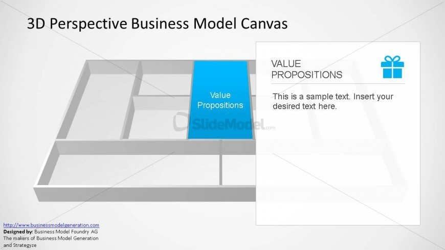 Value Proposition 3D Perspective Bmc Powerpoint Template - Slidemodel
