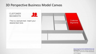 3D Perspective Business Model Canvas PowerPoint Template Customer Segments