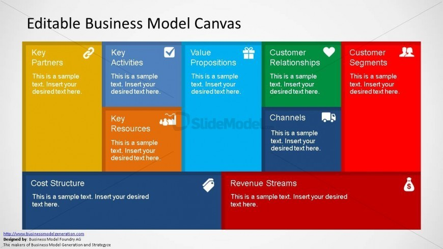 Business Model Canvas Slide Design  Slidemodel