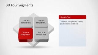Perspective 3D Quadrant Diagram for PowerPoint