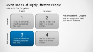 Seven Habits of Highly Effective People - Habit Three Template
