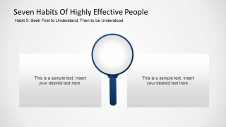 Seven Habits of Highly Effective People - Habit Five PowerPoint Shape