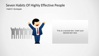 Seven Habits of Highly Effective People - Habit Six PowerPoint Shapes