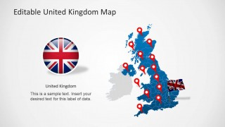 PowerPoint Map of the United Kingdom