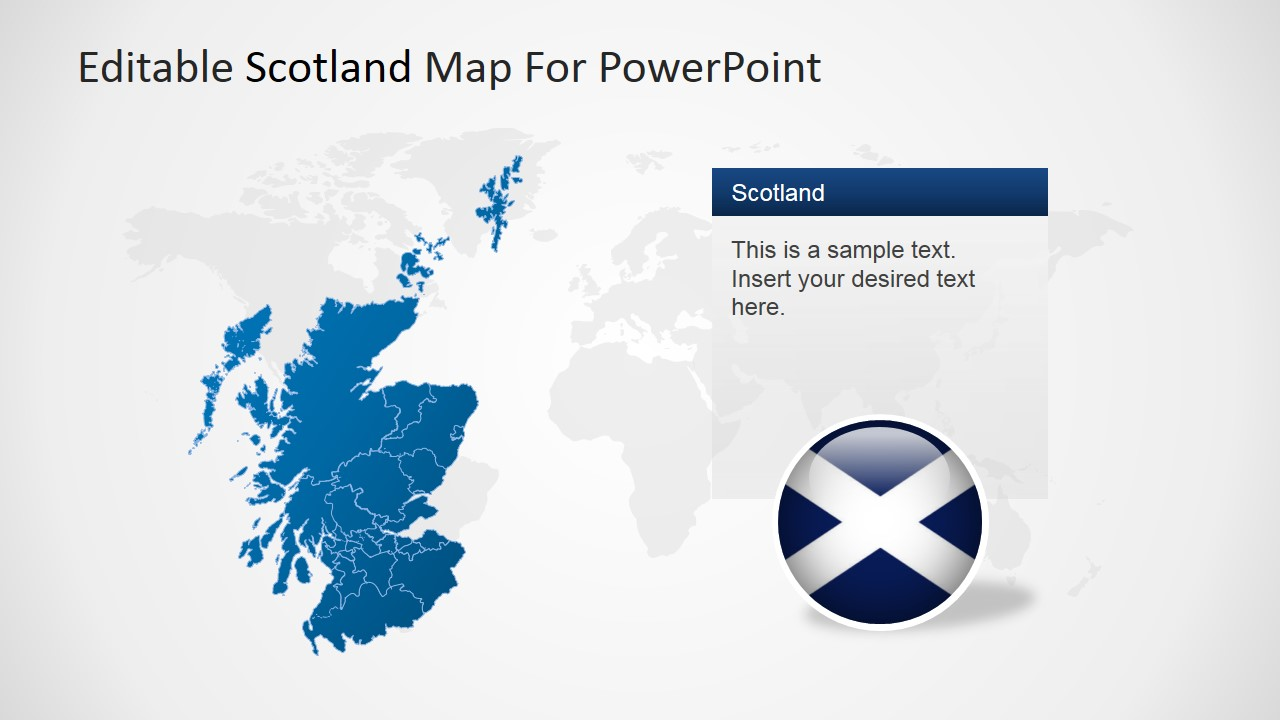 editable scotland powerpoint map
