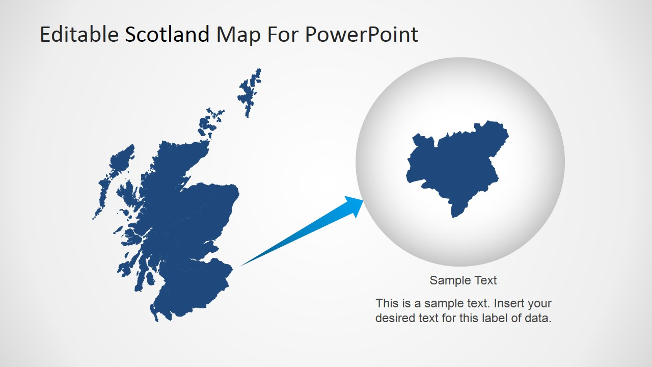 Scotland PowerPoint Map with State Highlighted