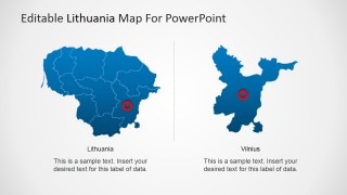 PowerPoint Map of Lithuania and Vilnius State