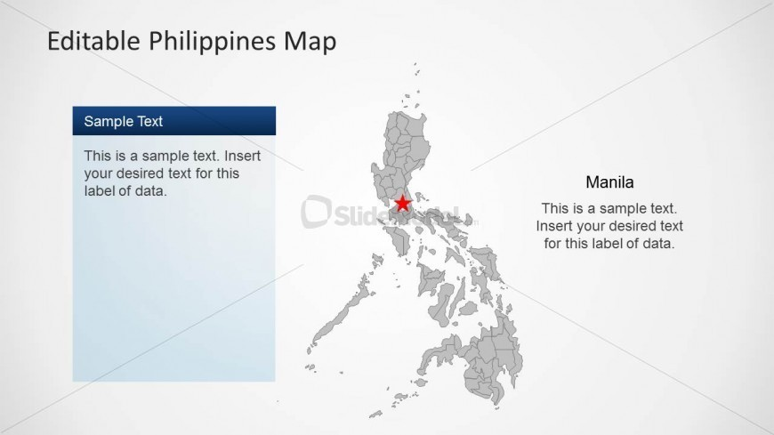 Editable PowerPoint Map of Philippines