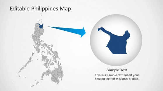 Philippines PowerPoint Map with State Highlight