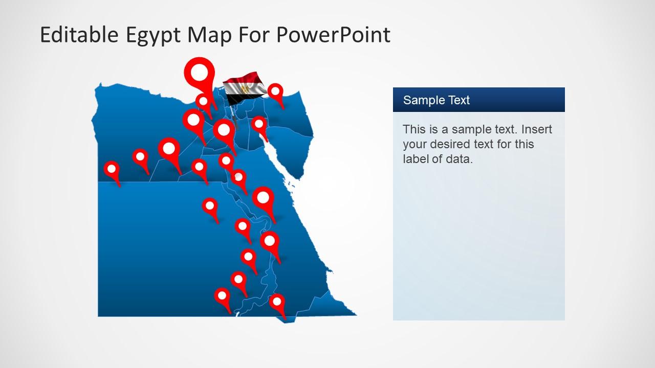 Editable Egypt Map Powerpoint Template