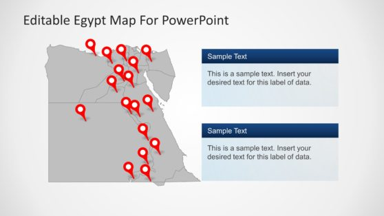 Editable Egypt Map PowerPoint Template with States