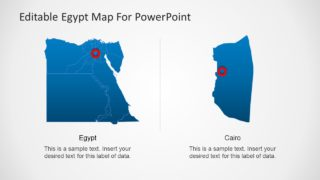 Editable Egypt Map PowerPoint Template with Capital