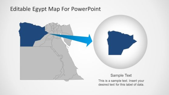 Editable Egypt Map PowerPoint State Highlight