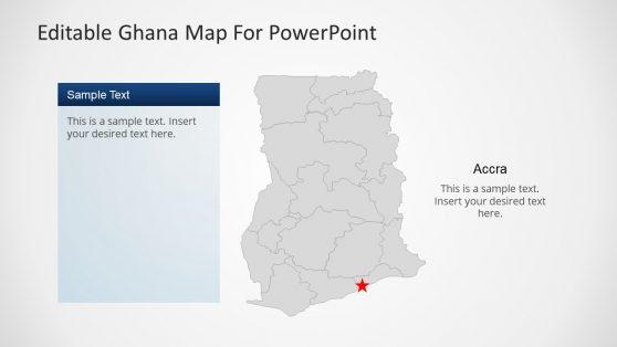 Editable Ghana Political Map PowerPoint