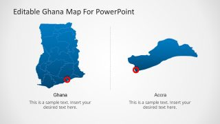 Ghana Map Editable PowerPoint Template with Capital