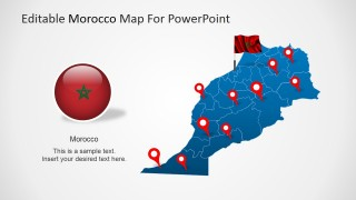 PowerPoint Map of the Kingdom of Morocco